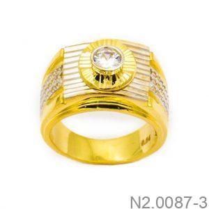 Nhẫn Nam Vàng 18k Đính Đá CZ - N2.0087-3