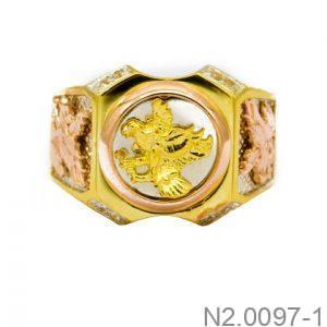 Nhẫn Nam Đại Bàng Vàng Hai Màu 10k - N2.0097-1