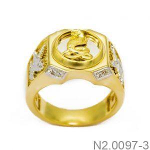 Nhẫn Nam Hình Rắn Vàng 10k - N2.0097-3
