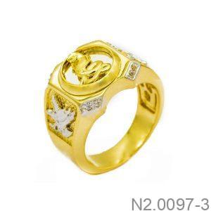 Nhẫn Nam Rắn Vàng Hai Màu 10k - N2.0097-3