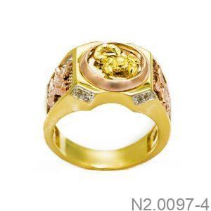 Nhẫn Nam Bò Cạp Vàng 10k - N2.0097-4