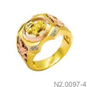 Nhẫn Nam Bọ Cạp Vàng Hai Màu 10k - N2.0097-4