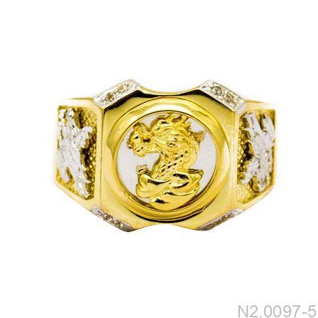N2.0097-5-2 Nhẫn nam mặt rồng vàng 10k