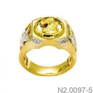 Nhẫn Nam Rồng Vàng 10k - N2.0097-5