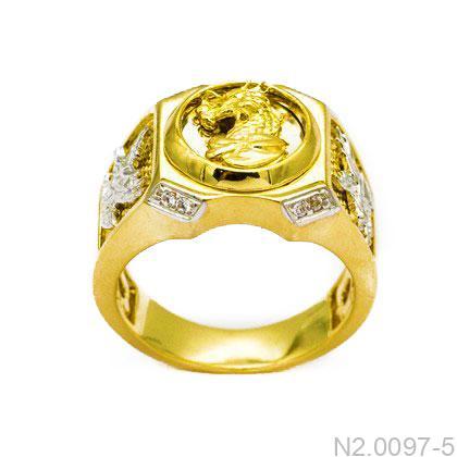 N2.0097-5 Nhẫn nam mặt rồng vàng 10k