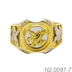 Nhẫn Nam Đại Bàng Vàng Hai Màu 10k - N2.0097-7
