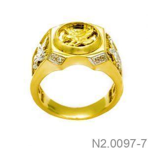 Nhẫn Nam Vàng Vàng 10k - N2.0097-7