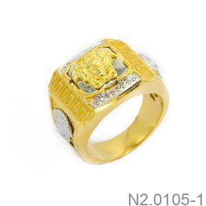 Nhẫn Nam Versace Vàng Hai Màu 10k - N2.0105-1