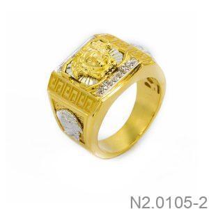 Nhẫn Nam Versace Vàng Hai Màu 10k - N2.0105-2