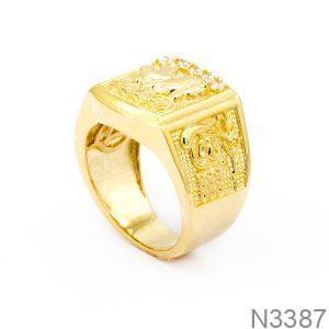 Nhẫn Nam Con Heo Vàng Vàng 18k  - N3387