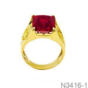 Nhẫn Nam Vàng 18K Đính Đá CZ - N3416-1