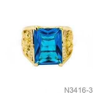 Nhẫn Nam Rồng Vàng Vàng 18K Đá Xanh Dương - N3416-3