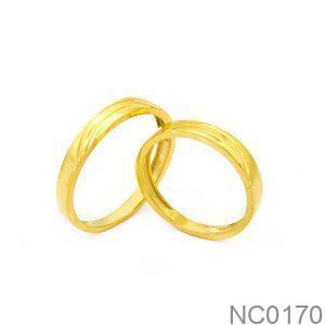 Nhẫn Cưới Vàng Vàng 18K Đính Đá CZ - NC0170