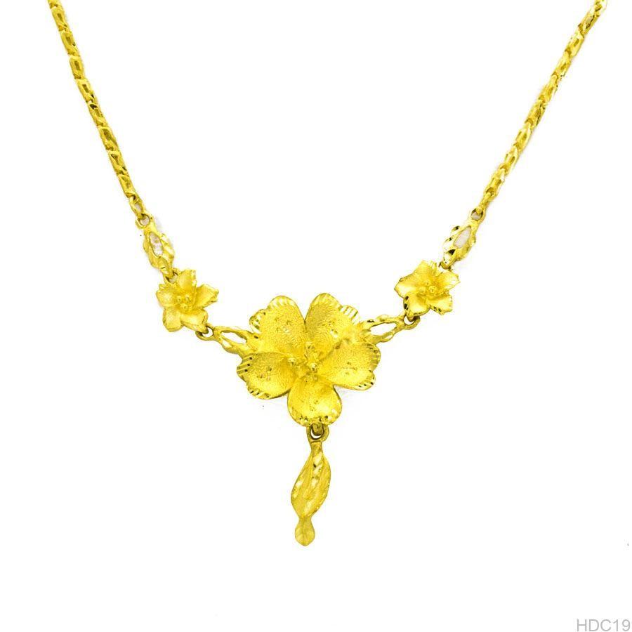 Dây chuyền vàng cưới 24k hình hoa mai HDC19