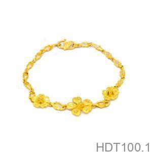 lắc tay vàng cưới 24k HDT100.1