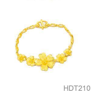 Lắc tay cưới vàng 24k APJ HDT210