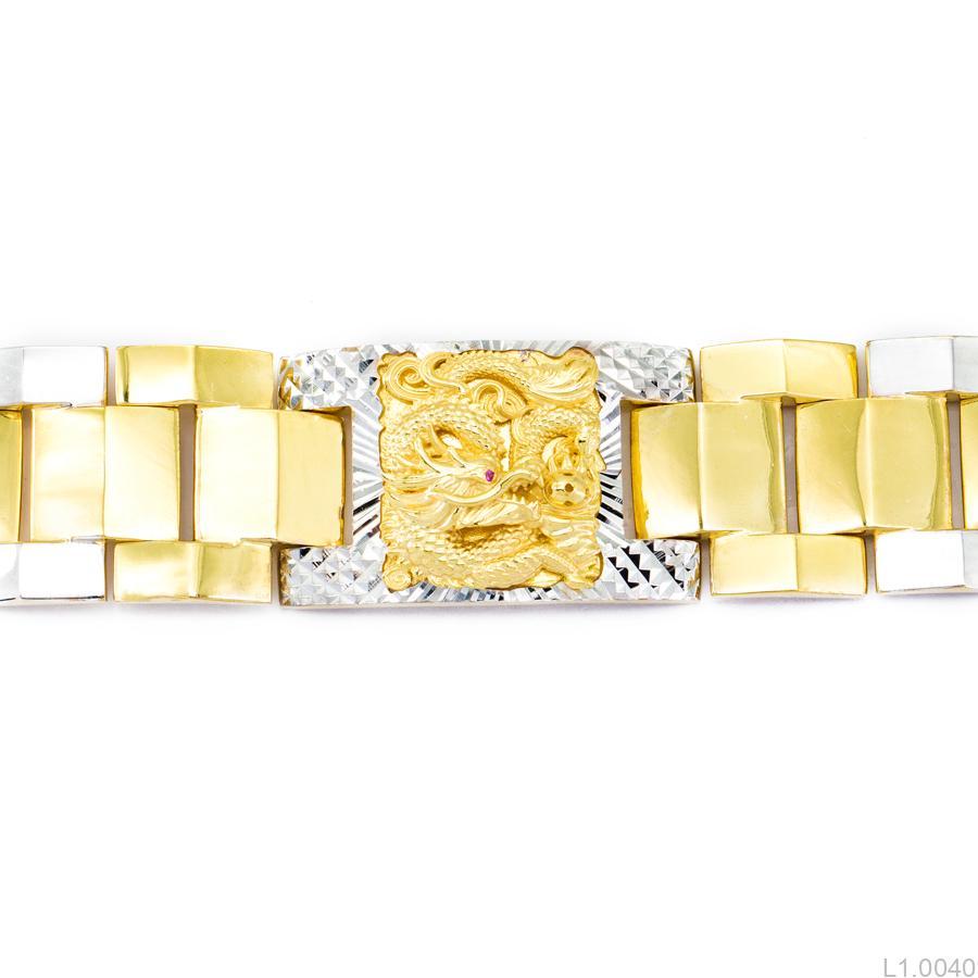 Lắc Tay Nam Khắc Rồng APJ Vàng 10k - L1.0040 a