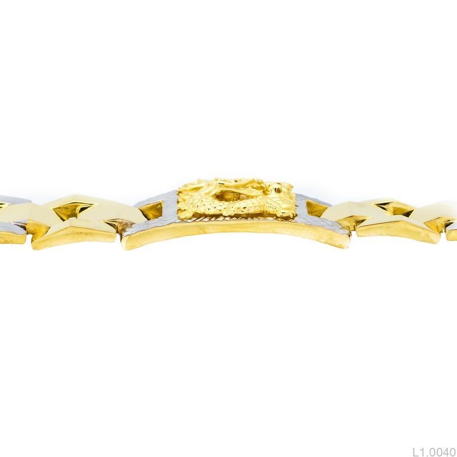 Lắc Tay Nam Khắc Rồng APJ Vàng 10k - L1.0040 b