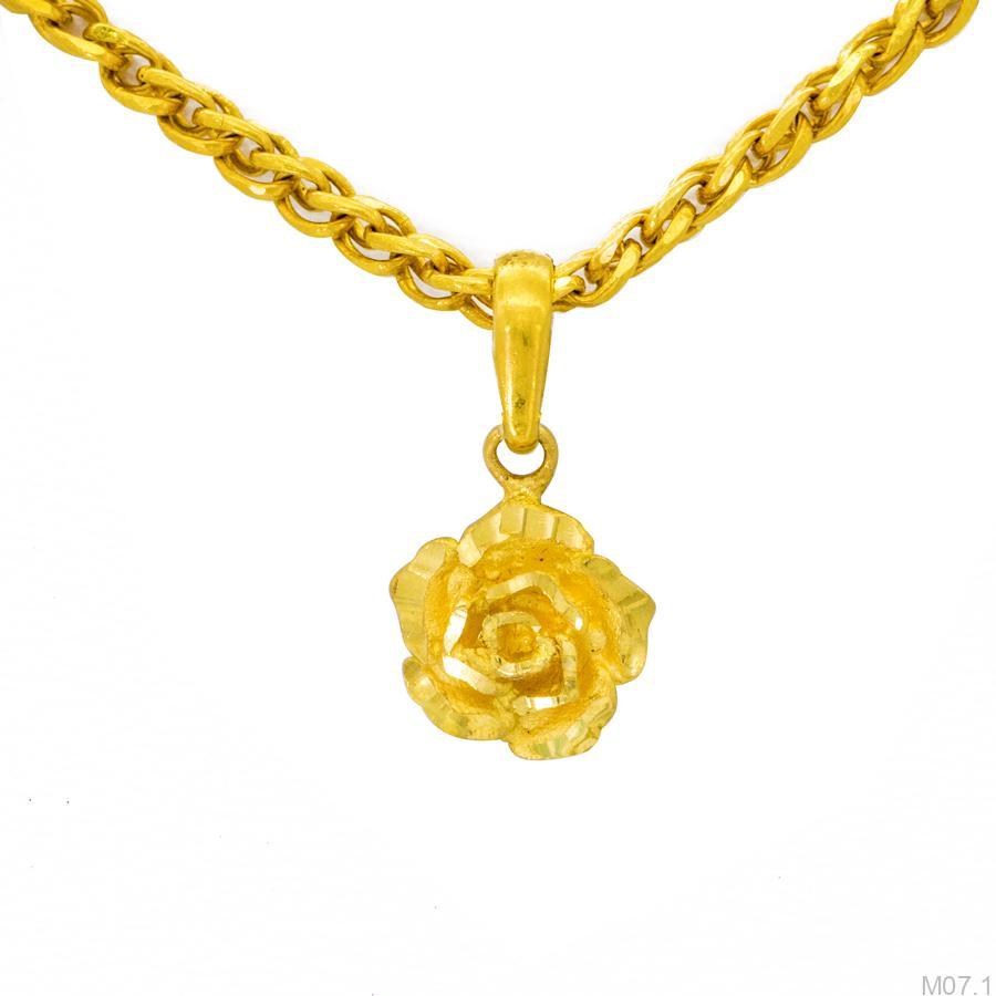 Mặt dây chuyền cưới vàng 24k M07.1 APJ