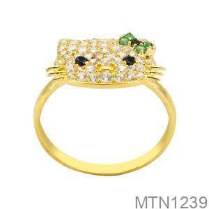 Nhẫn Nữ Vàng Vàng 18K Đính Đá CZ - MTN1239