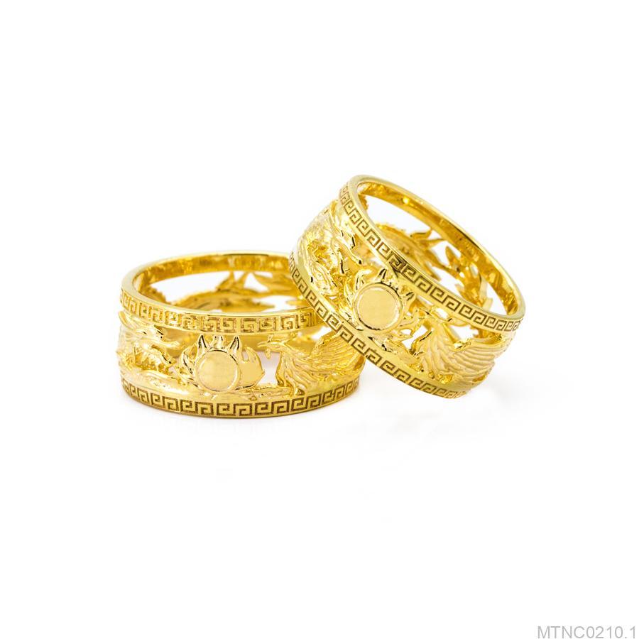 Nhẫn cưới rồng phụng vàng 18k MTNC0210