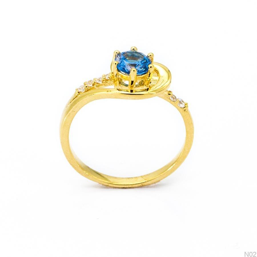 Nhẫn Nữ Vàng 18K Đính Đá CZ - N02