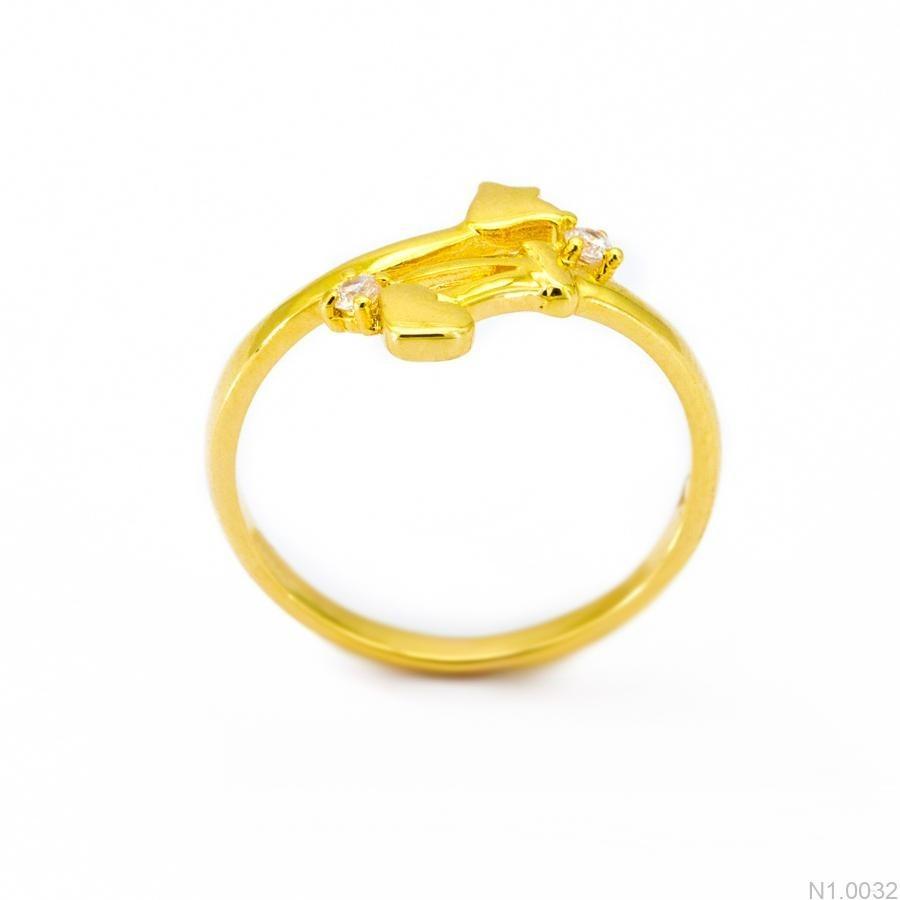 Nhẫn Nữ Vàng 18K Đính Đá CZ - N1.0032