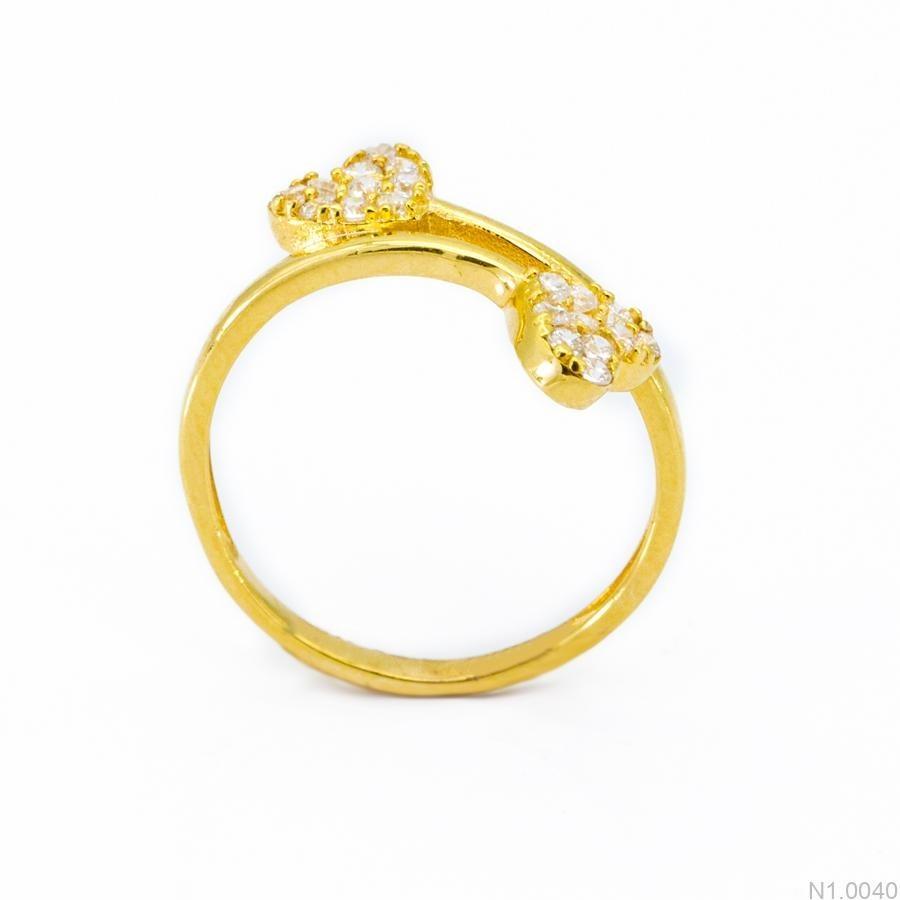 Nhẫn Nữ Vàng 18K Đính Đá CZ - N1.0040