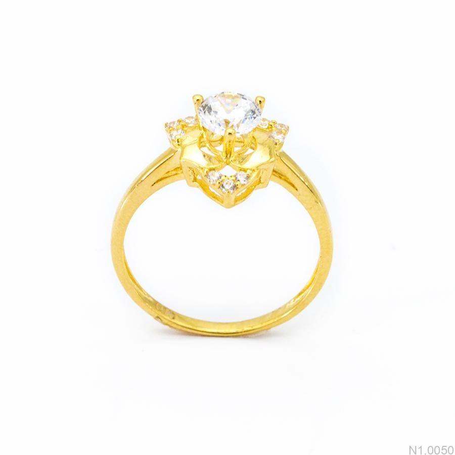 Nhẫn Nữ Vàng 18K Đính Đá CZ - N1.0050