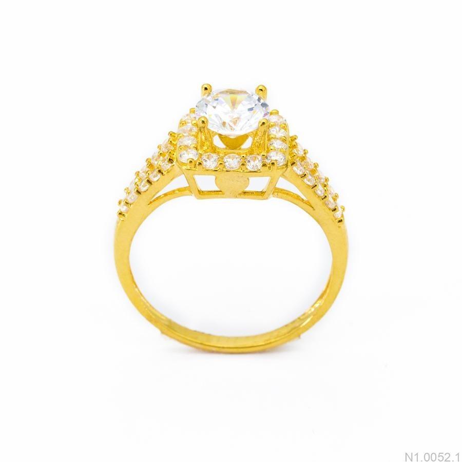 Nhẫn Nữ Vàng 18K Đính Đá CZ - N1.0052.1