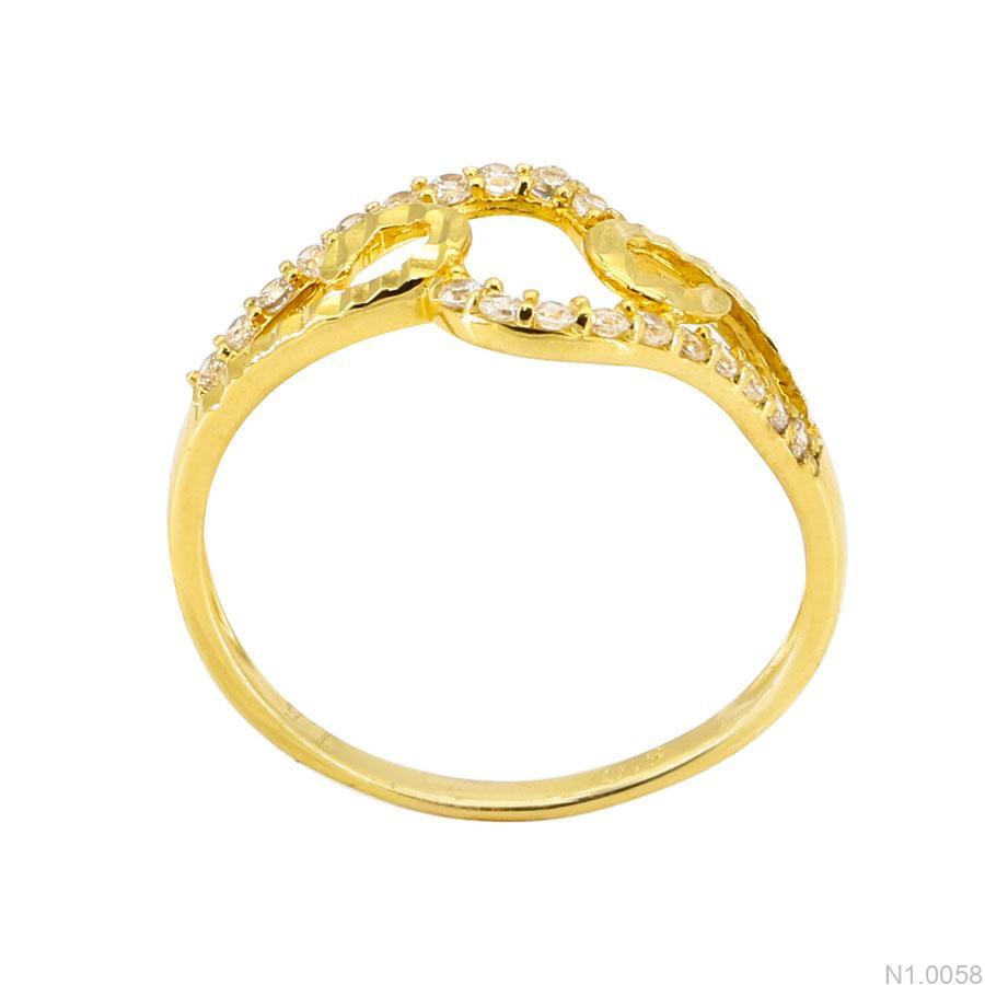 Nhẫn Nữ Vàng Vàng 18K Đính Đá CZ - N1.0058