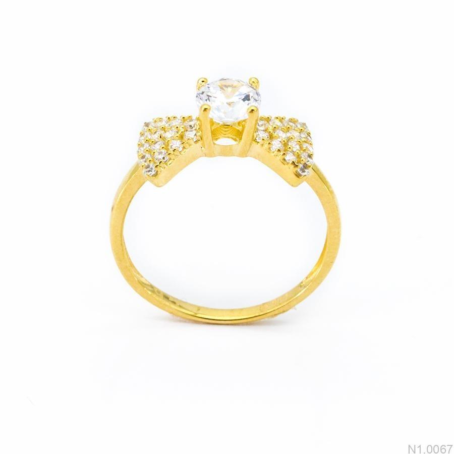 Nhẫn Nữ Vàng 18K Đính Đá CZ - N1.0067