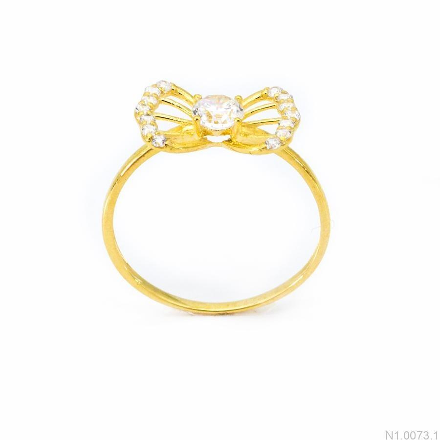 Nhẫn Nữ Vàng 18K Đính Đá CZ - N1.0073.1