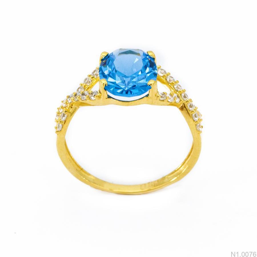 Nhẫn Nữ Vàng 18K Đính Đá CZ - N1.0076