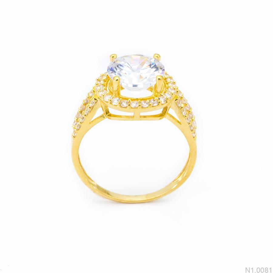 Nhẫn Nữ Vàng 18K Đính Đá CZ - N1.0081