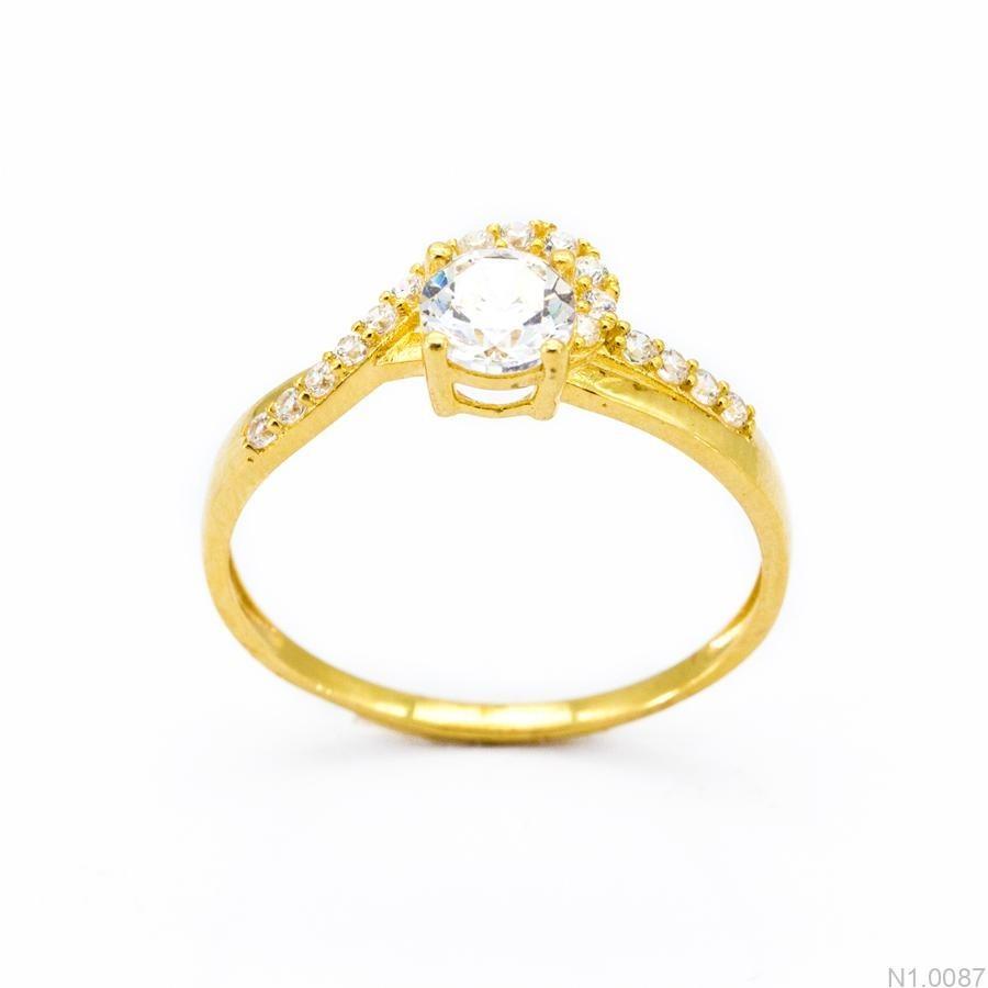 Nhẫn Nữ Vàng 18K Đính Đá CZ - N1.0087