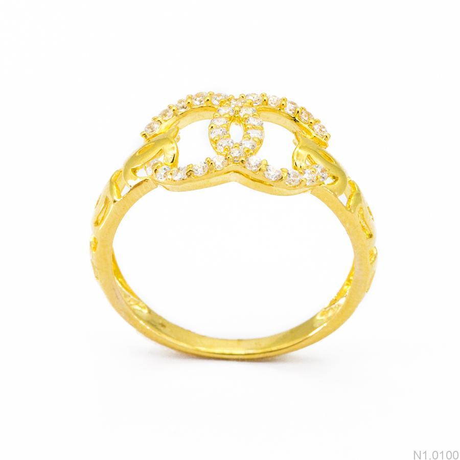 Nhẫn Nữ Vàng 18K Đính Đá CZ - N1.0100