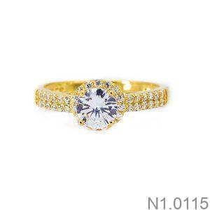 Nhẫn Nữ Vàng 18K Đính Đá CZ - N1.0115
