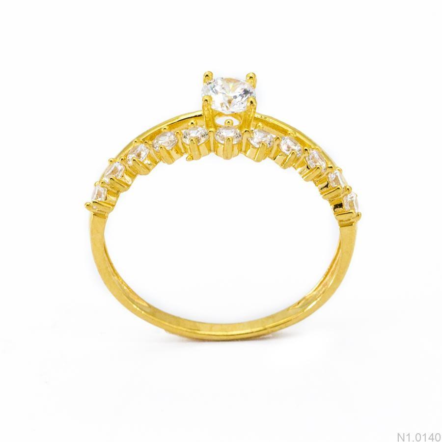 Nhẫn Nữ Vàng 18K Đính Đá CZ - N1.0140