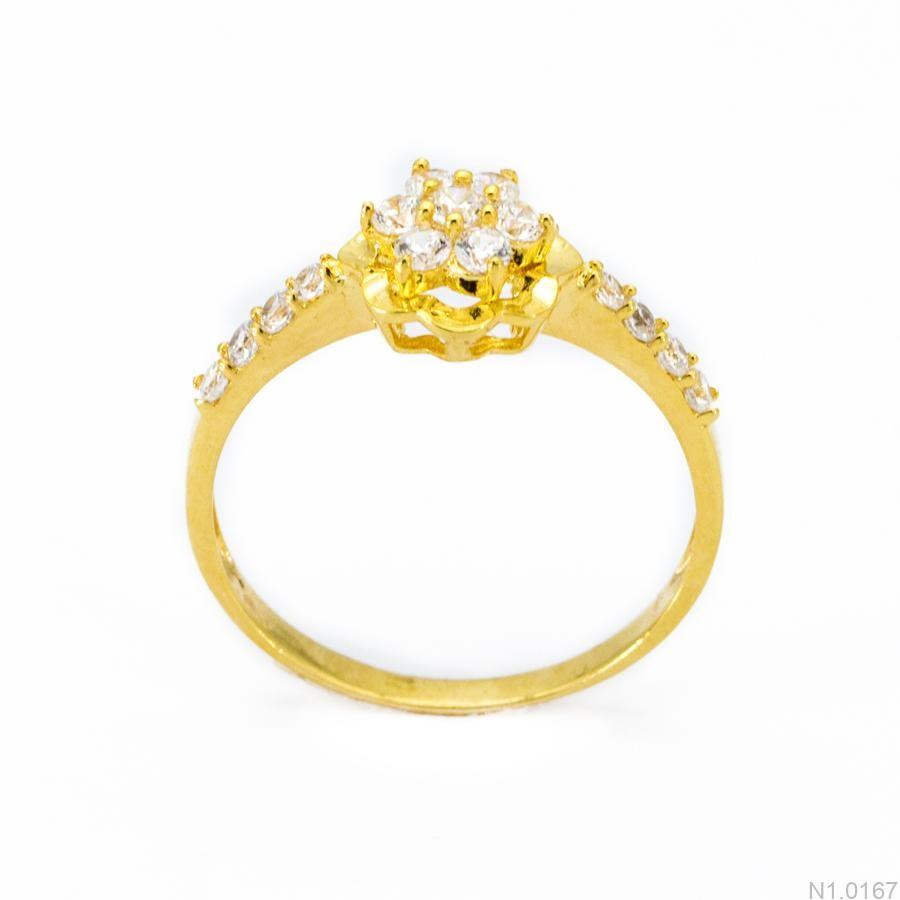 Nhẫn Nữ Vàng 18K Đính Đá CZ - N1.0167
