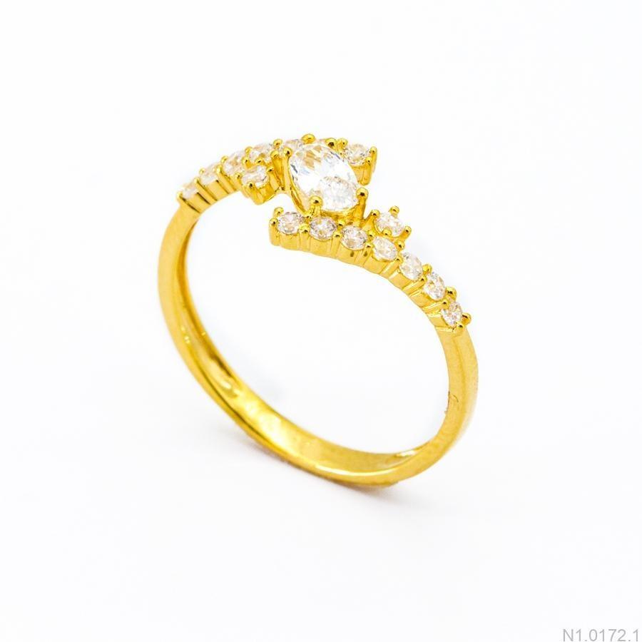 Nhẫn Kiểu Nữ Vàng 18k - N1.0172.1
