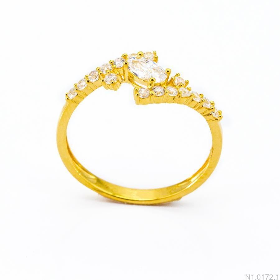 Nhẫn Nữ Vàng 18K Đính Đá CZ - N1.0172.1
