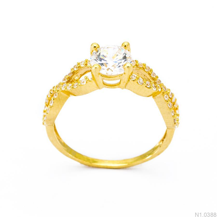 Nhẫn Nữ Vàng 18K Đính Đá CZ - N1.0388