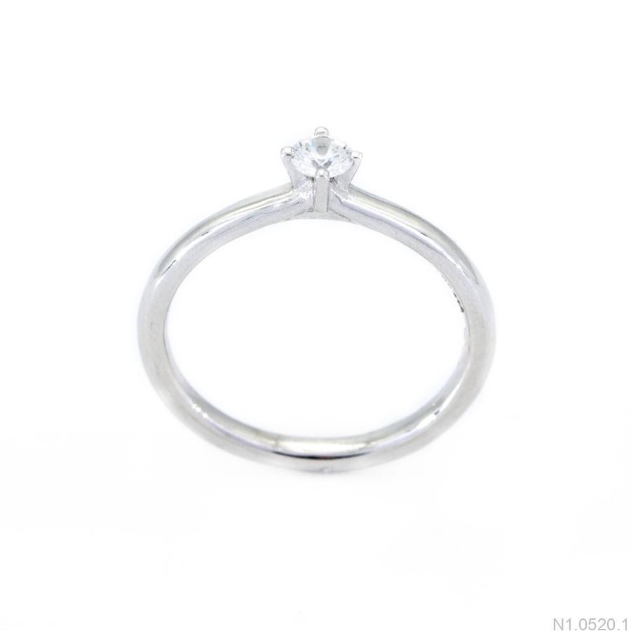 Nhẫn Nữ Vàng Trắng 10K Đính Đá CZ - N1.0520.1