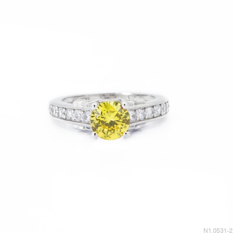 Nhẫn Kiểu Nữ APJ Vàng Trắng 10k - N1.0531-2