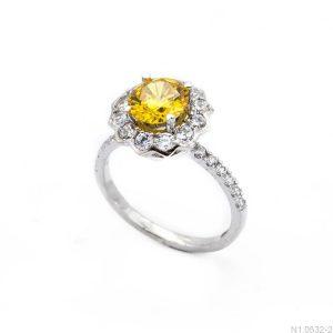 Nhẫn Nữ Vàng Trắng 10K Đính Đá CZ - N1.0532-2