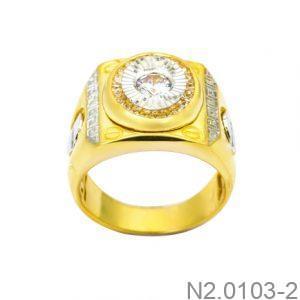 Nhẫn Nam Vàng 10k Đính Đá CZ - N2.0103-2