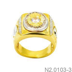 Nhẫn Nam Vàng 10k Đính Đá CZ - N2.0103-3