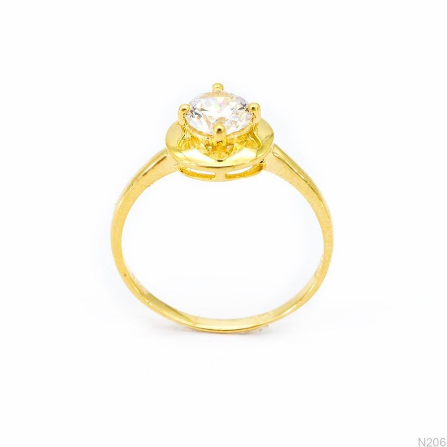 Nhẫn Nữ Vàng 18K Đính Đá CZ - N206
