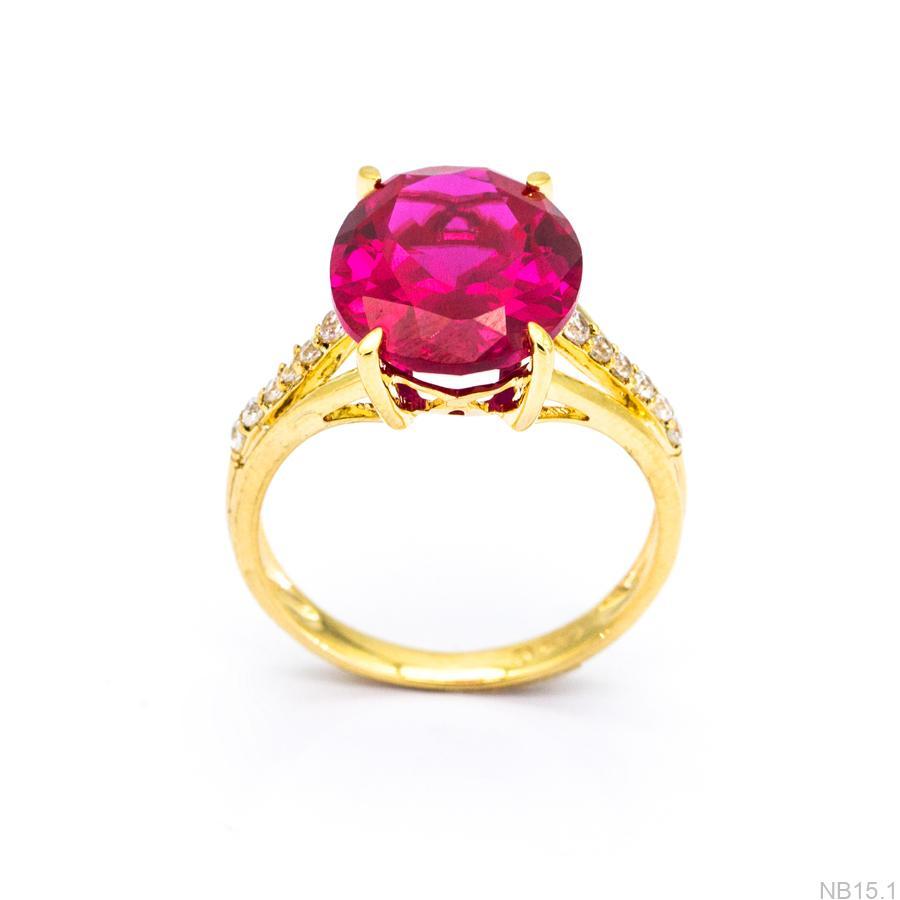 Nhẫn Nữ Vàng 18K Đính Đá CZ - NB15.1